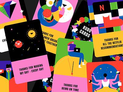 Kudos 🃏💝 cards kudos thankyou flat minimal illustrator design vector illustration