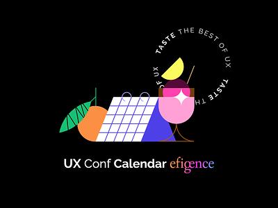 UX Conf Calendar 🗓✨ gradient freebie webdesign conference calendar ux ui flat minimal illustrator design vector illustration