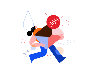 Mail overflow 😓 e-mail characterdesign characters red blue flat minimal illustrator design vector illustration