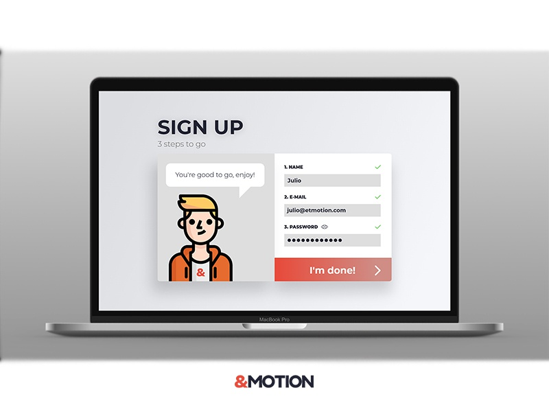 Daily UI Challenge #001 Sign up - Part 1 desktop sign up screen daily ui challenge ux ui