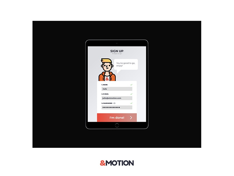 Daily UI Challenge #001 Sign up - Part 2 sign up form tablet daily ui challenge ui ux