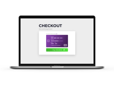 Daily UI Challenge #002 Checkout payment e-commerce desktop checkout daily ui challenge ux ui
