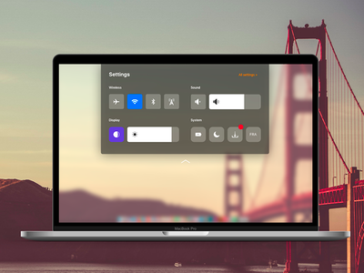 Daily UI Challenge #007 Settings control center mac os settings ui ux daily ui challenge