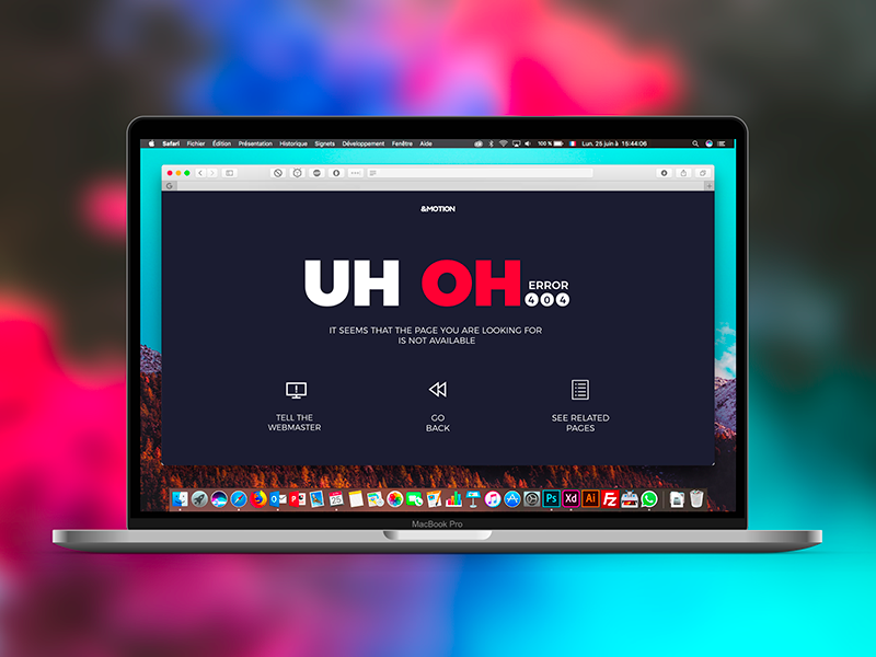 Daily UI Challenge #008 404 Page user experience webdesign 404 page ui ux daily ui challenge