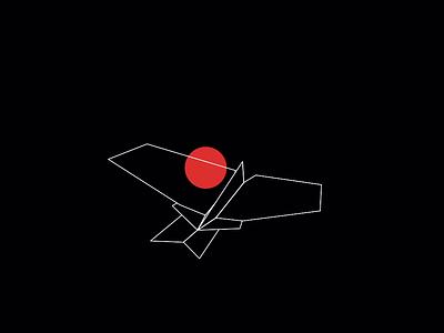 Google Transformation - origami bird origami transformation animation 2d motiongraphics motion design illustration design google simple bird icon loop gif animated