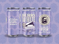 Adelbert's Brewery Berry White beer sour beer can design beer can package design illustration type typography matt thompson