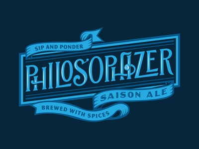 Adelbert's Philosophizer beer can saison beer lettering illustration type typography matt thompson