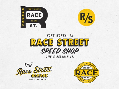 Race Street design logo texture fun branding lettering illustration type typography matt thompson