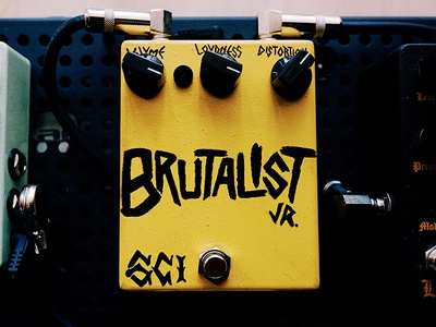 Update: Pedal Finished guitar pedal disortion cool fun drawring type brutalist jr.