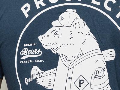 Prospect T's available! california baseball coffee prospect tshirt t-shirt shirt apparel typography type illustration matt thompson