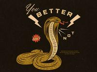 Snakes bite