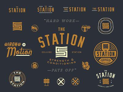 The Station type logo mark identity branding matt thompson