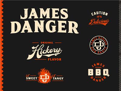 JD - Graveyard bbq sauce bbq texture type logo mark identity branding matt thompson