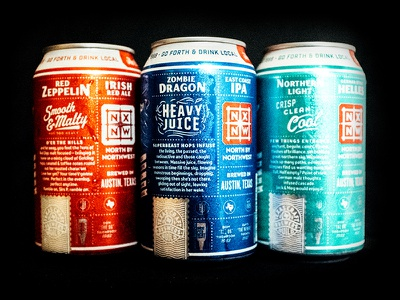 North by Northwest Cans! nxnw type layout illustration beer cans beer cans matt thompson