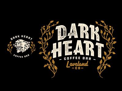 Dark Heart Coffee Bar texture typography illustration merch coffee matt thompson