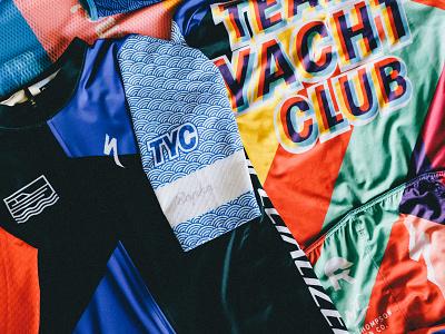 Team Yacht Club x Rapha rapha kit cycling matt thompson