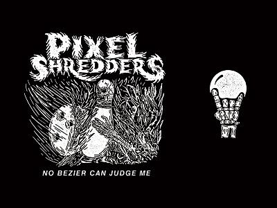Pixel Shredders Bowling Squad shred bowling death metal metal lettering
