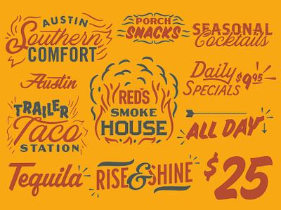 RED'S Porch Type lettering illustration type typography matt thompson