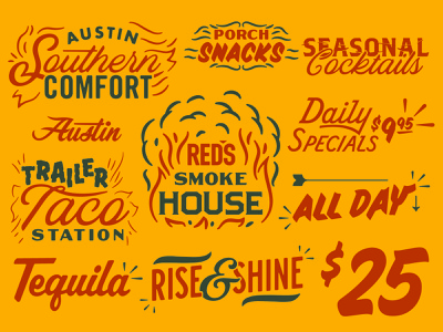 RED'S Porch Type lettering illustration type typography matt thompson