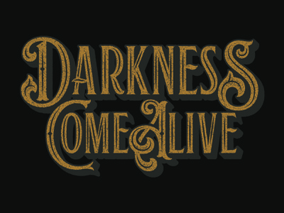 Darkness unused packaging design custom type lettering typography matt thompson
