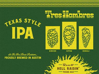 Adelbert's — Tres Hombres Del beer packaging design branding type illustration typography matt thompson