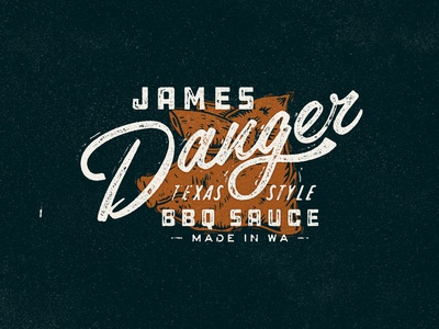 James Danger T-shirt branding texture type illustration typography matt thompson