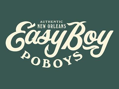 Easy Boy outtake script logo lettering type typography matt thompson