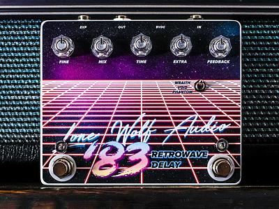 Lone Wolf Audio '83 Retrowave Delay fun texture typography type design matt thompson