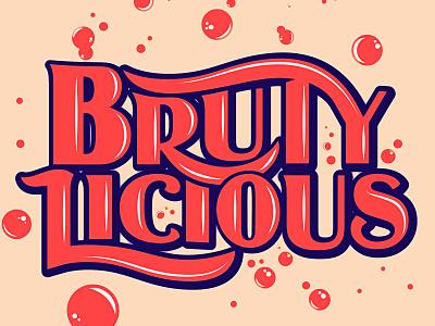 Brutylicious Type nxnw beer lettering illustration type typography matt thompson