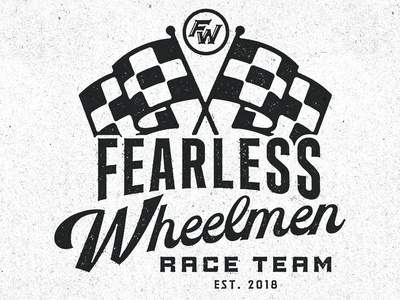 Fearless Wheelmen // Race Badge