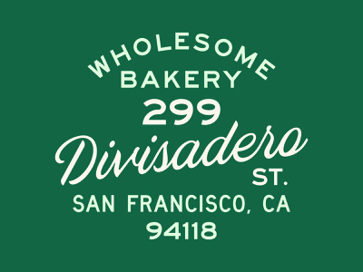 Wholesome Bakery type typography matt thompson