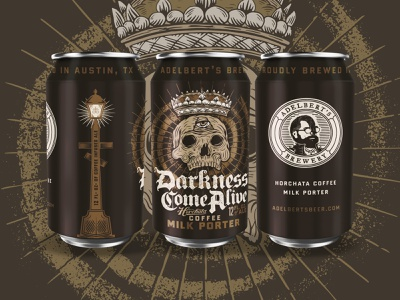 Adelber'ts Darkness Come Alive can design beer can design packaging design packaging beer can beer design illustration type typography matt thompson