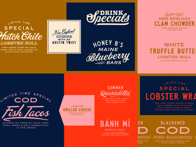 Garbo's Specials food script design fun branding lettering type typography matt thompson
