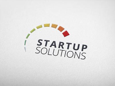 Startup solutions logo design design startup logo