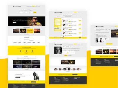 Databáze hlasů footer header site ux ui voice database crm form carousel page landingpage gray black yellow logo microsite webdesign website web