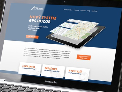 New gps system | Microsite system gps microsite site web