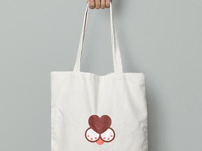 Online Pet shop logo love heart cat dog animals pet logo