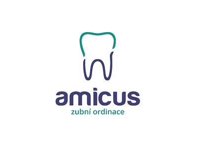 Dental logo care health doctor blue green tooth teeth dental logo