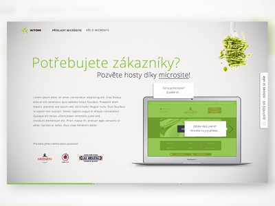 Microsite about microsites space white clear mac spoon fork spaghetti microsite green design web