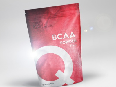 BCAA powder | product design red strong packaging powder gym fit fitness bcaa