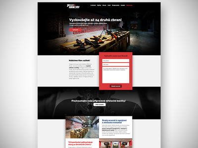 Prague Armory | Homepage shoot gun width full slider carousel armory prague dark site web homepage