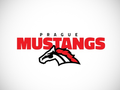 Prague Mustangs | American football team logo mustang football american nfl horse sport logo
