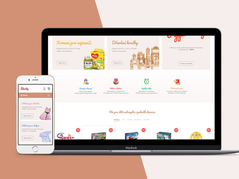 teddy - e-shop with children's goods