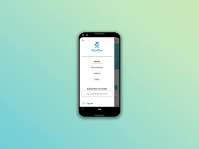 Mobile menu login subscribe webdesign website design ux responsive responsive web design mobile design mobile app mobile ui mobile