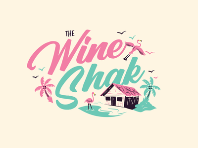 The Wine Shak logo design logo illustration branding graphic design