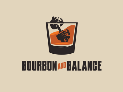 Bourbon and Balance Podcast Logo typography design logo icon design branding illustration graphic design