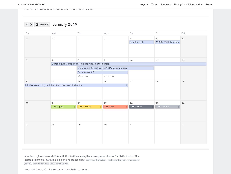 html calendar - Ataum berglauf-verband com