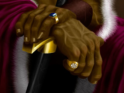 ❧ The Gurkhan King Detail
