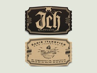 ❦ ℑch Studio Business Cards