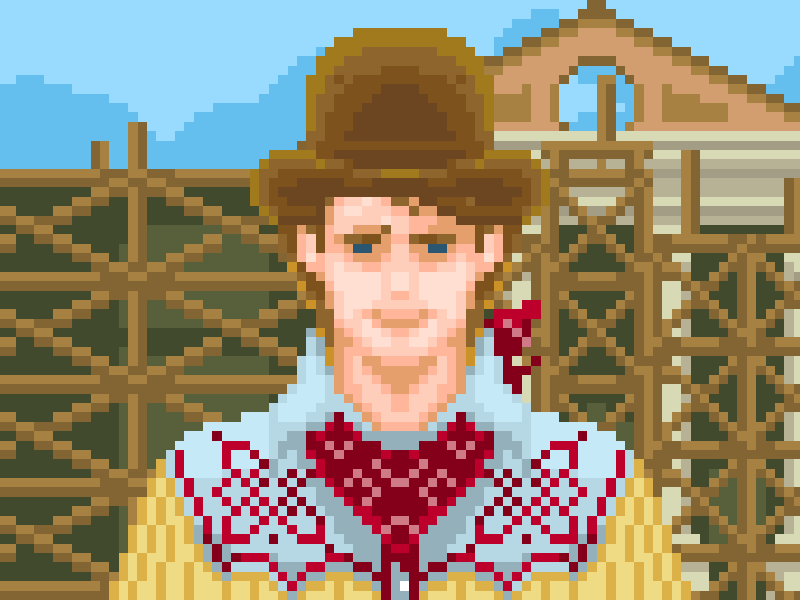 ❧ Marty McFly/Clint Eastwood 1885 backtothefuture pixelthursday 8bit pixel
